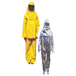body protection or fire suit and chemical suit