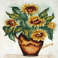 Sunflower  Pot Canvas