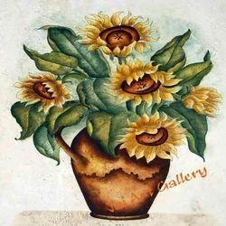 Sunflower  Pot Canvas