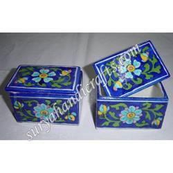 Blue Pottery Chouckor Box