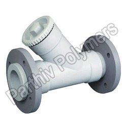 pp y type strainer flange end