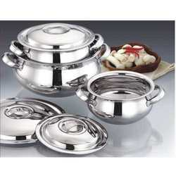Stainless Steel Malai Handi Set