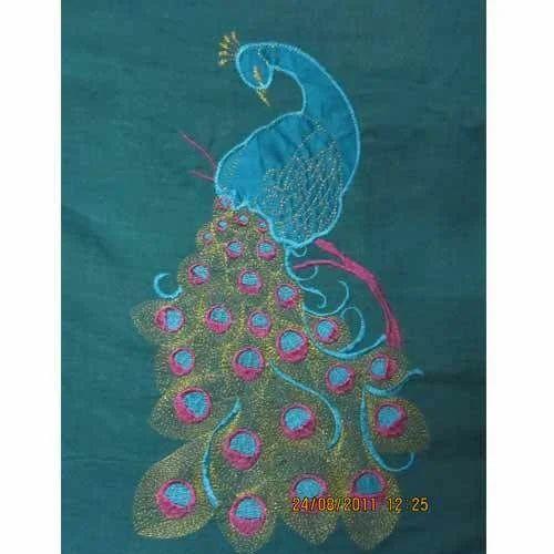Embroider Sarees  Saree Embroidery Applique Work