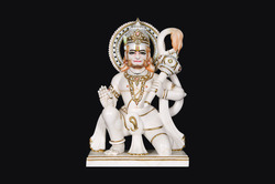 White Marble Hanuman Idol