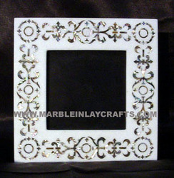 stone inlaid mirror frame