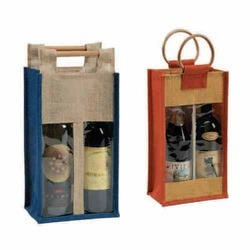 Jute Two Bottle Bag