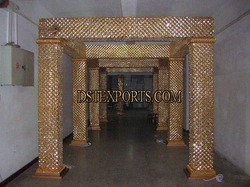 Latest Wedding Golden Crystal Square Mandap
