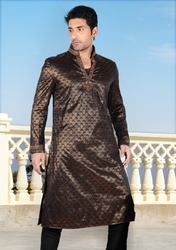 Black Pathani Kurta Pajamas