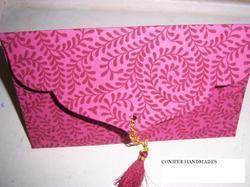 Silk Screen Printed Handmade Paper Envelopes