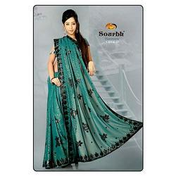 Black Bordered Saree