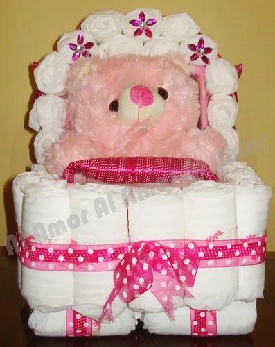 Baby Shower Gifts Pram Diaper Cake Service Provider From Kolkata