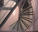 Spiral Gass Stairs