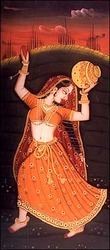 Ragini /Bani-Thani Silk Painting