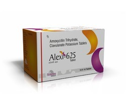 Amoxycillin Trihydrate, Clavulanate Potassium Tablets - Alexi 625