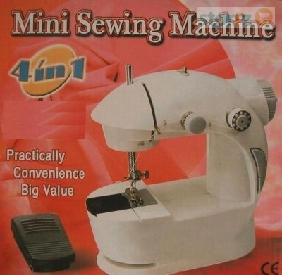 Mini Sewing Machine 4 In 1 With Free Adaptor & Pedal