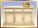 wood painted buffet