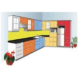 L Shape Modular Kitchens