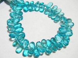 Aqua+Apetite+Color+Quartz+Faceted+Pear+Briolettes