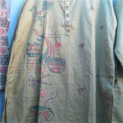 Designer Painted Kurta