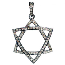Double Triangle Diamond Pendant