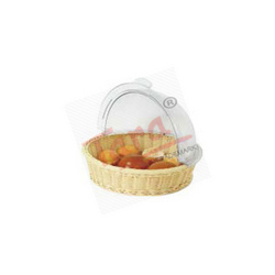 Polypropylene Round Rattan Basket With PC Roll Cover