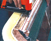 Furniture Industry-To Staple The Rubber / Jute Elastic (Nuvar) To The Wooden Frame