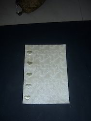 Metallic Embossed Ivory Color Swirl Pattern Scrapbook Paper