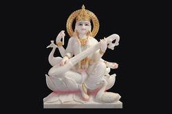 Beautiful Marble Saraswati Statue