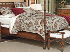 Crewel Bedding Duvet Cover Lotus Natural Brown Linen