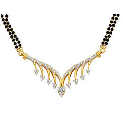 Avsar Real Gold and Diamond  Fashionable Mangalsutra