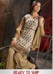 Unstitched Georgette Printed Suit