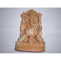 Wooden Ganesh With Mouse