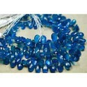 Neon Blue Apatite Faceted Pear Briolettes