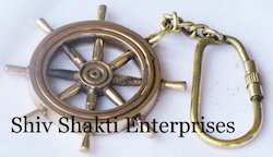 Nautical Wheel Key Chain