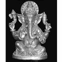 White Metal Ganesha Statue