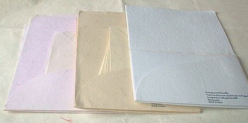 Correspondence Stationery Set in Handmade Paper