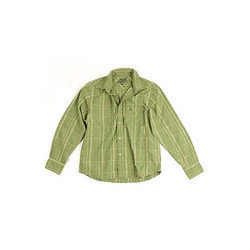 Green Embroidered Shirt NURUNF-1651
