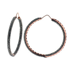 18k Rose gold Hoop Earrings