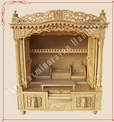 Customize Savan Wood Carved Haveli Mandir