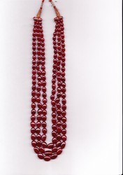 Ruby Oval Beads