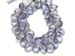 Blue+Color+Quartz+Faceted+Pear+Briolettes