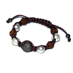 Diamond Bead Macrame Bracelets