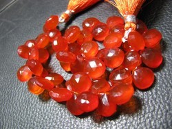 Orange Color Chalcedony Faceted Onion Briolettes