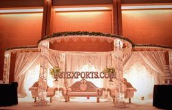 Wedding Round Crystal Metal Mandap
