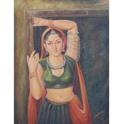 Decorative Rural Lady Painting