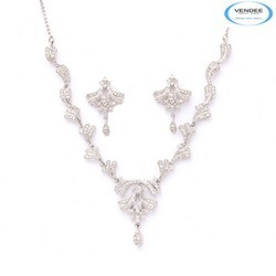 Fancy Designer Diamond Necklace Set