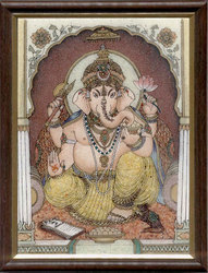 Ganesha Gemstone Paintings