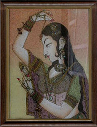 Ajasthani Queen Gemstone Paintings