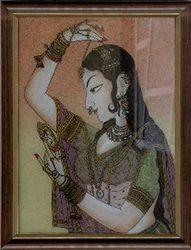 Ajasthani+Queen+Gemstone+Paintings
