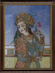 Mughal Queen Gemstone Paintings